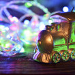 Christmas candle locomotive — Lizenzfreies Foto
