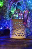 рождественская свеча держатель — Стоковое фото
