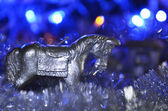 クリスマスの馬 — ストック写真