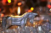 圣诞节马 — 图库照片