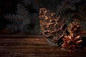 Boże narodzenie szyszki — Zdjęcie stockowe