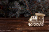 Christmas candle locomotive — Photo