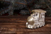 Christmas candle locomotive — ストック写真