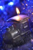 Weihnachten-lokomotive — Stockfoto