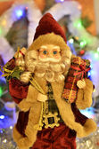 Santa claus with gifts — Foto Stock