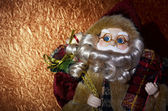 Santa claus with gifts — Photo