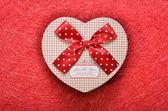 Box in heart shape — Stock Photo
