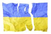 Torn Ukrainian flag — Stock Photo