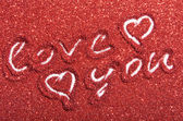 Paillettes rosso — Foto Stock