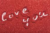 červenými flitry — Stock fotografie