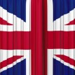 United Kingdom flag curtain, Opening and closing 3d animation, HD, mask. — Stock Video