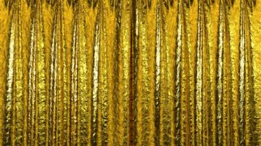 Gold Curtain opening in high definition with alpha mask. Useful for presentations. — Stock Video