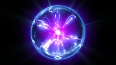 Plasma ball in blue and purple colors looped. HD 1080. — Stock Video