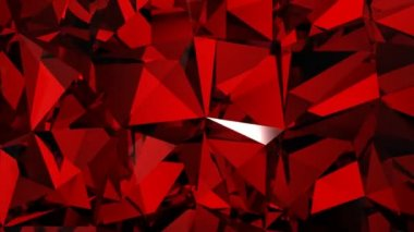 Red diamonds spinning. HD 1080. Loopable. — Stock Video