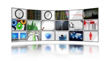 Digital screens. HD. Loop. Mask. — Stock Video