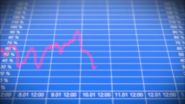 Stock Market board with graph. HD 1080. Looped animation. — Stock Video