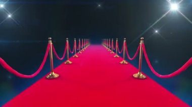 Red Carpet Event. Looped animation of a walk down and paparazzi camera flashes. — Stock Video