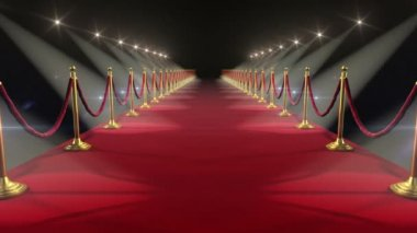 Red Carpet. Looped animation. HD 1080. — Video Stock