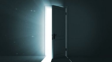 Door opening to a heaven light. Sparks flying. Alpha Channel is included. HD 1080. — Stock Video