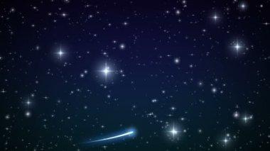 Coração feito de estrelas cintilantes no céu bonito. hd 1080. — Vídeo stock