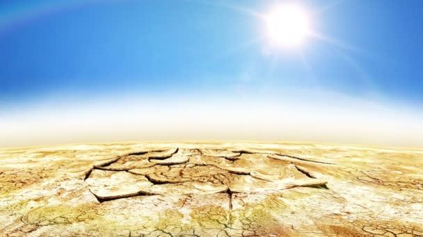 Hermosa animación de gota de agua en el desierto — Vídeo de stock