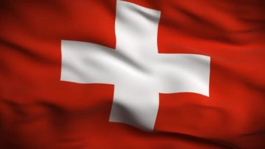 Flag of Switzerland — Stock Video