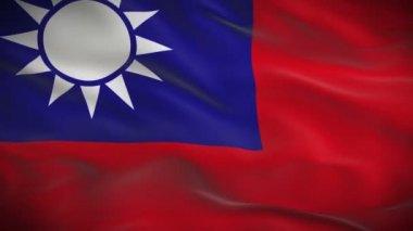 флаг тайваня — Стоковое видео