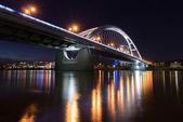 Night Bridge Reflections — Stock Photo