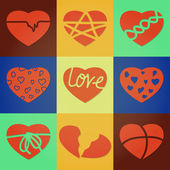 Corações divididas — Vetorial Stock
