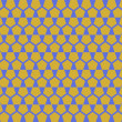 Gold pentagon Geometric Seamless Pattern — Stockvectorbeeld