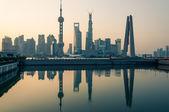 Sunrise Over Shanghai — Stock Photo
