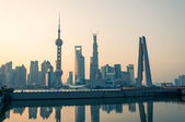 Sunrise Over Shanghai — Stock Photo