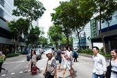 Singapore Crosswalk — Stock Photo