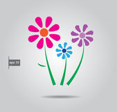 Vector flowers — Vector de stock