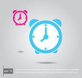 Two alarm clock vector icon — Stock Vector