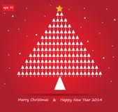 Noel ağacı ve kar vektör simgesi — Stok Vektör