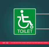 Disabled label toilet vector icon — Stock Vector