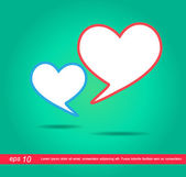 Heart icon speech vector icon — Stockvektor