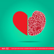 Heart and brain  icon — Stock Photo #44167047