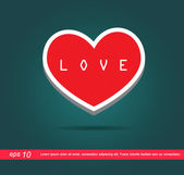 Heart and text love  icon — Stock Photo