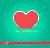 červené srdce valentýna ikona — Stock fotografie