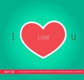 Red heart valentines icon — Stock Photo