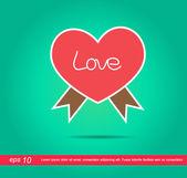 Kalp etiketi simgesi — Stok fotoğraf
