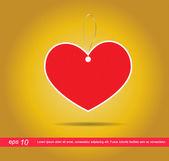 Heart  tag vector icon — Stock Vector
