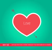 Red heart valentines vector icon — Stock Vector