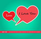 Heart icon speech i love you — Stock Vector