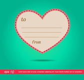 Heart of letter vector icon — Stock Vector