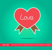 Heart tag vector icon — Stock Vector