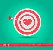 Dardos vector icono del corazón — Vector de stock