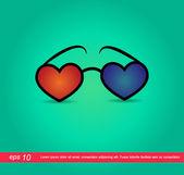 Heart glass 3d vector icon — Stock Vector